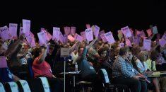 conference delegates voting